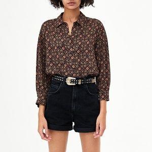 Zara Geometric Print Shirt